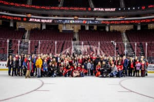 Our ECEA members along with their family attended Education Appreciation Night at the NJ Devils Game on 12/6/19