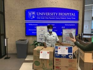 Our ECEA Pride Committee, Executive Officers and the Appian Way delivered food to four hospitals in Essex County last week! St. Barnabas, Mountainside, University and East Orange General,