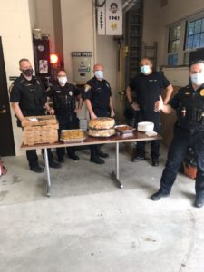 The Livingston EA  Pride committee bought  lunch for the Livingston Police Department to say thank you for being first responders!