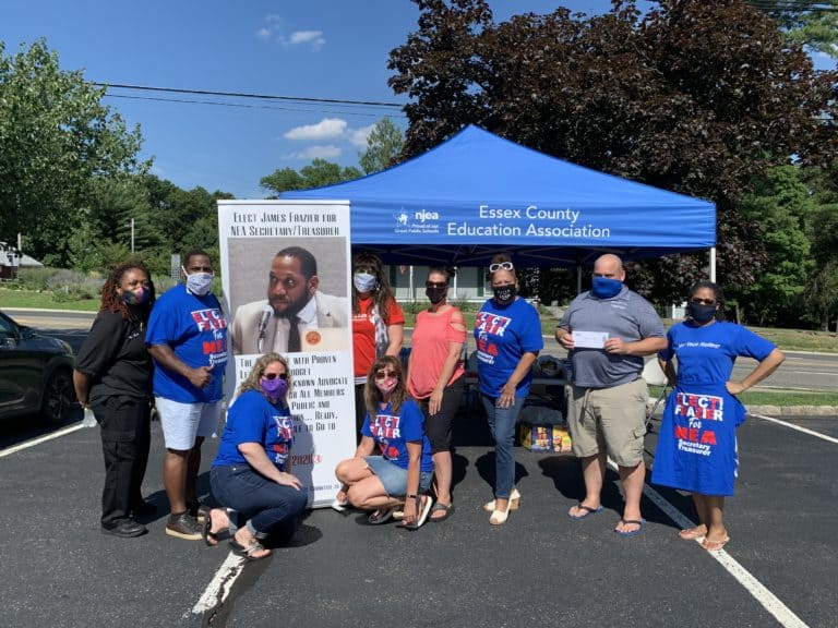 "On Tuesday, July 21, 2020 we held a ""Bring your Ballot and have a Sandwich or Salad"" Event for our 2020 Essex County NEA RA Delegates. We had the pleasure of having James Frazier who is running for NEA Secretary-Treasurer come out and greet our Delegates."