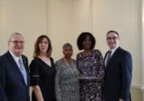 Our own 1st VP Jacqui Greadington was honored this morning (2.22.19) at the Essex County Democratic Labor Breakfast. Anthony Rosamilia had the honor of introducing her (1)